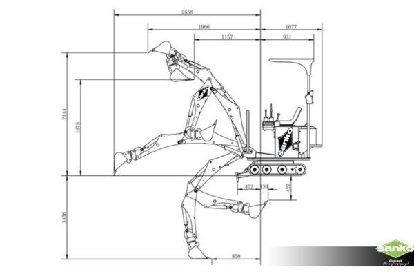 Micro-Excavator-Dimensions 2